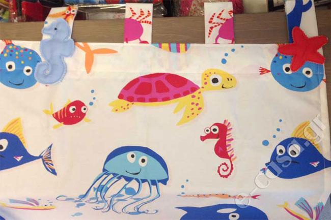 Κουρτίνα Nemo με τιράντες