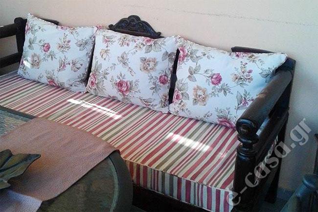 Μαξιλάρια για παραδοσιακό καναπέ