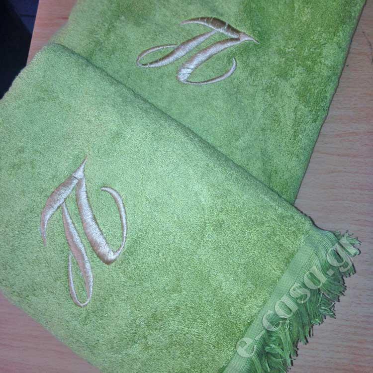 Πετσέτες με μονόγραμμα