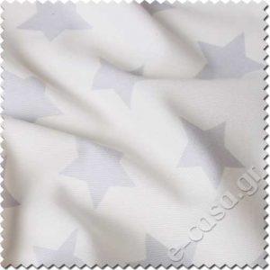 υφασμα λευκο με γκρι αστερι