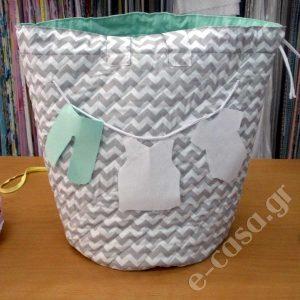 Τσάντα - Καλάθι απλύτων - αποθήκευσης Cheery Chevron, υφασμάτινο