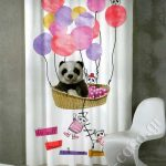 Έτοιμες κουρτίνες Σειρά de colores - Panda (2 χρώματα)