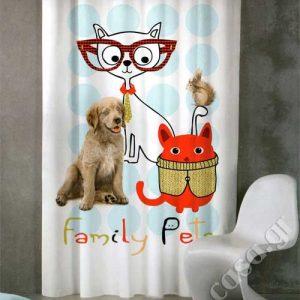 Έτοιμες κουρτίνες Σειρά de colores - Family Pets (2 χρώματα)
