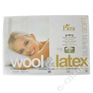 Μαξιλάρι ύπνου Pura - Wool & Latex