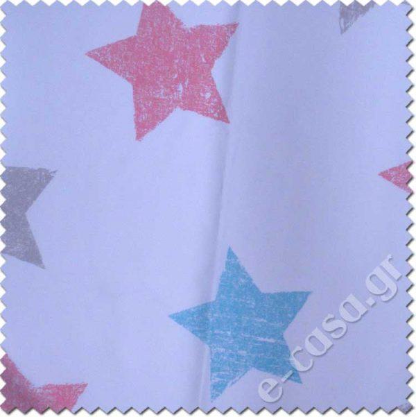 παιδικό ύφασμα με αστεράκια