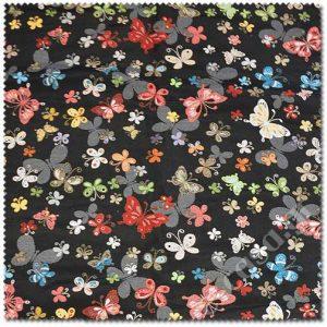 Σειρά Στόφες - Πεταλούδες (μαύρο)