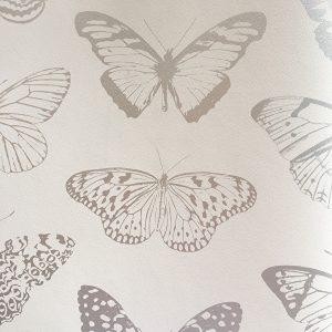 Ασημένιες μεταλιζέ Πεταλούδες