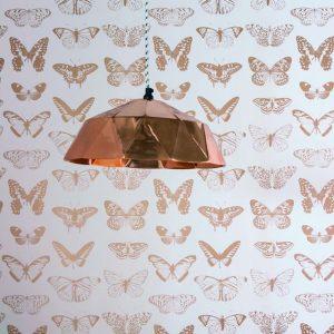 Μεταλιζέ χάλκινες Πεταλούδες