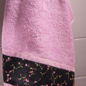 Ρομαντικό σετ πετσέτες 2 τεμ. Chic Collection Pink-Black