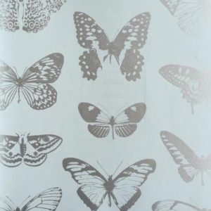 Ασημένιες μεταλιζέ Πεταλούδες σε σιελ