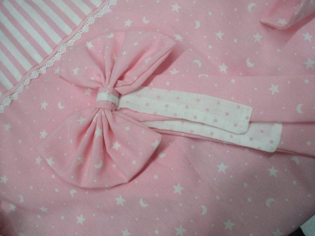 Κουρτίνα σε ροζ αποχρώσεις διακοσμημένη με δαντελίτσα !