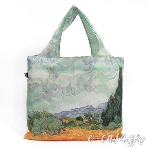 Τσάντα για ψώνια LOQI- Van Gogh a Wheat Field
