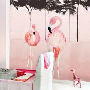 Παιδικό πόστερ Flamingo ροζ