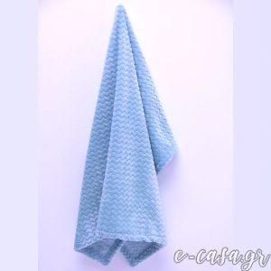 Κουβερτούλες Fleece Chevron ( ζικ-ζακ )- Μέντα