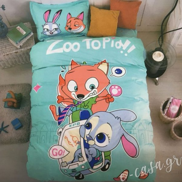 Παιδικό Κουβερλι μονό Zootopia