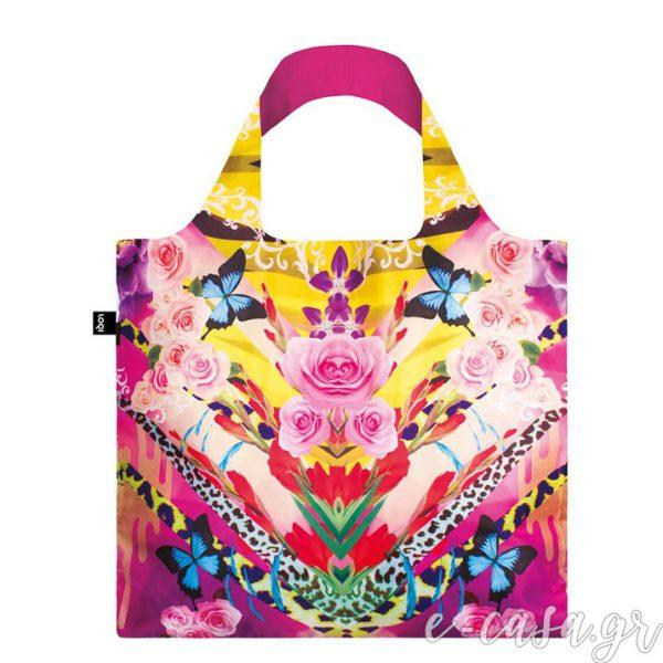 Τσάντα για ψώνια LOQI- Shinpei Naito Flower Dream