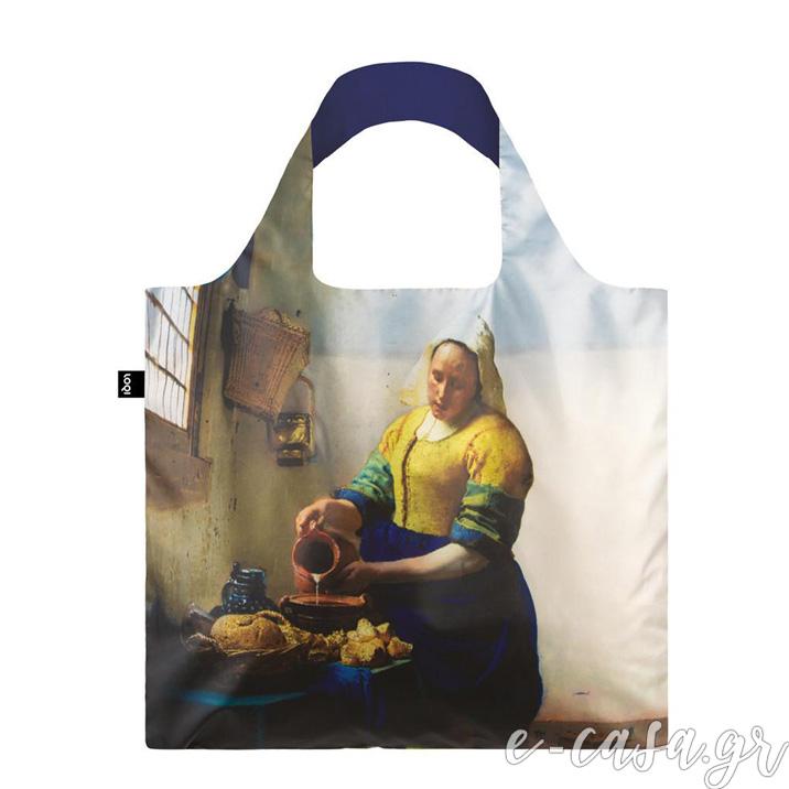 Τσάντα για ψώνια LOQI- Vermeer Milkmaid.