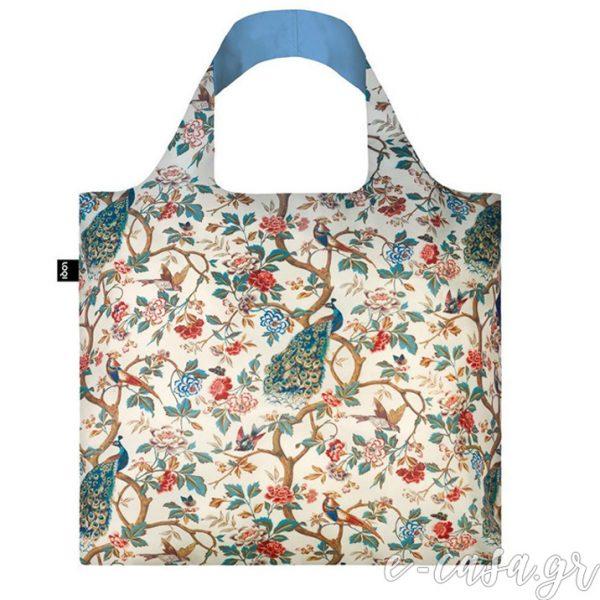 Τσάντα για ψώνια LOQI- Wall Hanging Peacock-Peonies