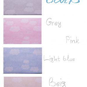 Σειρά Stars and Bows (σχέδιο συννεφάκια) 4 χρώματα