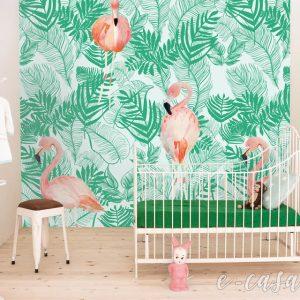 Παιδικό πόστερ Pink Jungle (ζούγκλα)