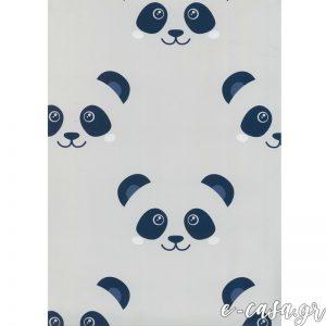 Παιδική Ταπετσαρία με Panda ( πάντα ) γκρι-μπλε
