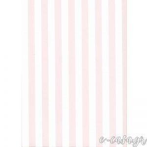 Παιδική Ταπετσαρία ριγέ άσπρο-ροζ