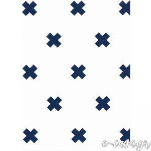 Παιδική Ταπετσαρία μίνιμαλ μπλέ σταυρούς
