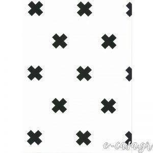 Παιδική Ταπετσαρία μίνιμαλ με ασπρόμαυρους σταυρούς