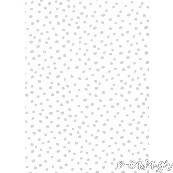 Παιδική Ταπετσαρία άσπρο-γκρι πουά