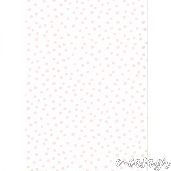 Παιδική Ταπετσαρία άσπρο-ροζ πουά