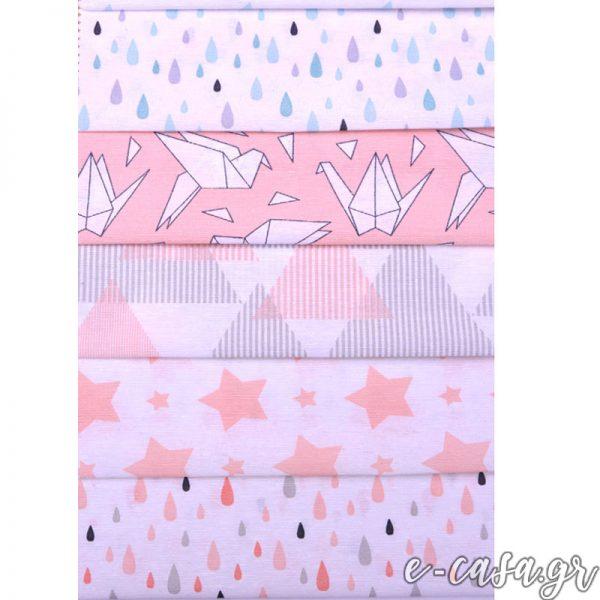 Σειρά Origami σταγόνες ροζ