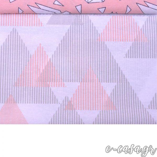 Σειρά Origami γεωμετρικά ροζ
