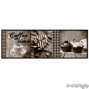 Χαλάκια κουζίνας 622 Coffee Time Taupe