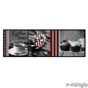 Χαλάκια κουζίνας 624 Coffee Time Grey