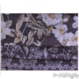 φλοραλ υφασμα σειρα manolia σε μαυρο