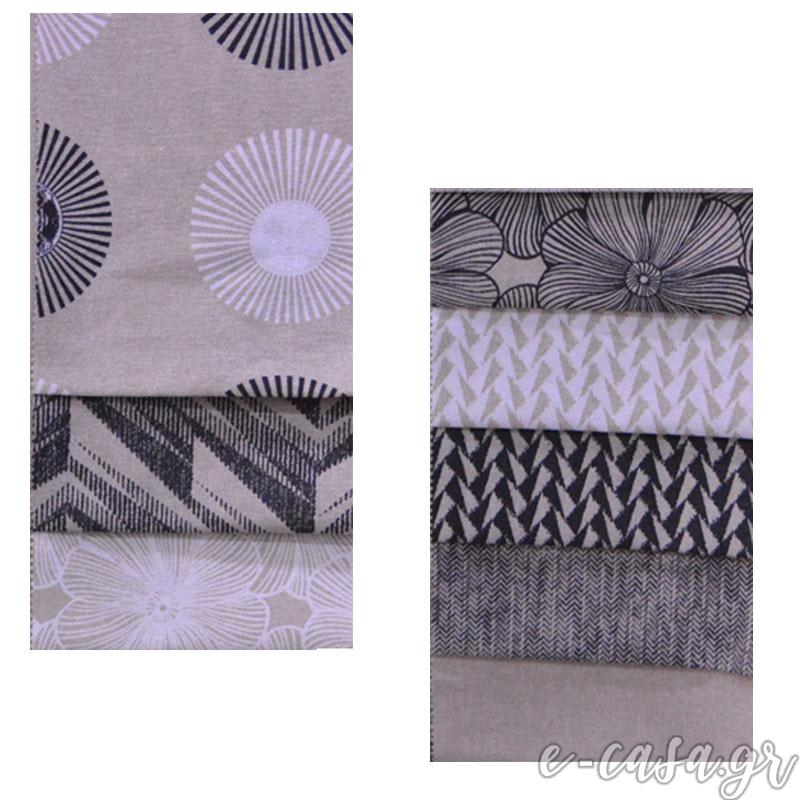 Σειρά Black and White - Solei .Εμπριμέ σειρά υφασμάτων σε ασπρόμαυρες αποχρώσεις