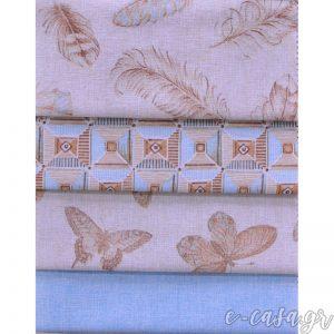 Εμπριμέ υφάσματα με πούπουλα-φτερά , πεταλούδες και γεωμετρικά σχέδια