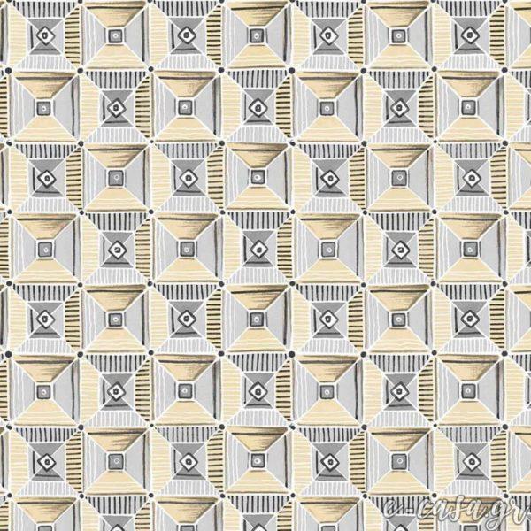 Σειρά Feather - Κίτρινο γεωμετρικόα υφάσματα