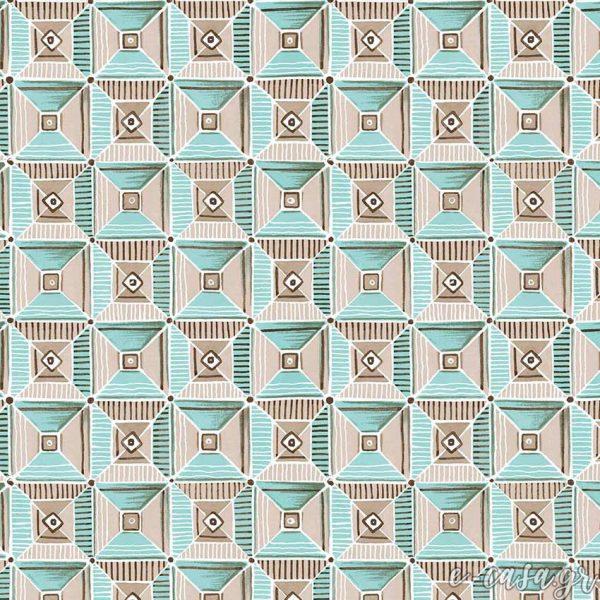 Σειρά Feather -Μπλε γεωμετρικό