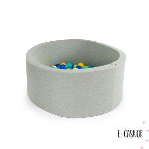 Υφασμάτινη Πισίνα στρογγυλή - Ball Pit Light Grey