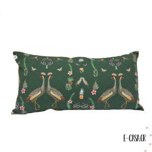 Μαξιλαράκι Peacock - Green μακρόστενο