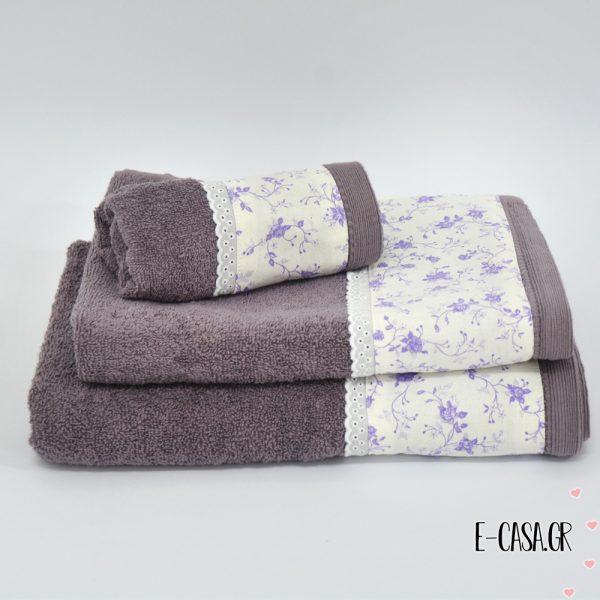 Σετ πετσέτες 3 τεμ. Chic Collection Μωβ