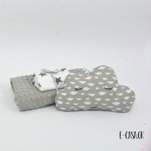Πικέ κουβέρτα λίκνου γκρί