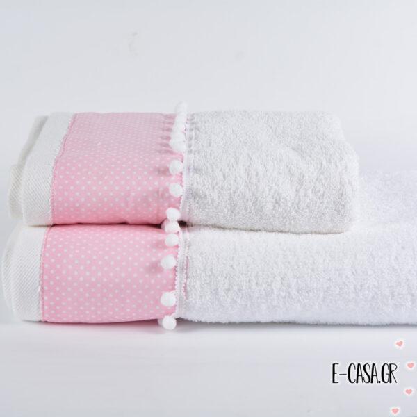 Σετ πετσέτες - Ροζ Πουά