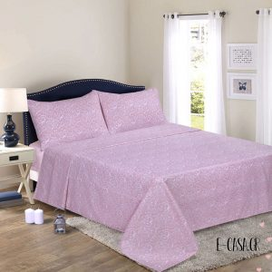 Υπέρδιπλο σεντόνι Lino Lace Pink
