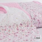 Πετσέτα μπάνιου ροζ φλοράλ