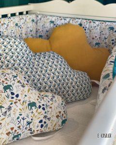 Βρεφική Πάντα Baby Elephant με ασορτί συννεφάκια