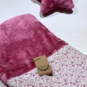 Κουβερτούλα φλις ροζ φλοράλ
