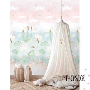Πόστερ Swan Pond Pink