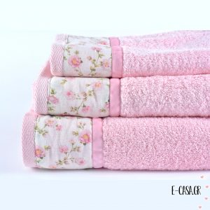 Σετ πετσέτες 3 τεμ. Chic Collection Pink Small Floral